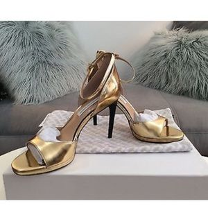 DVF Jalen Gold Evening sandal  Brand new with box